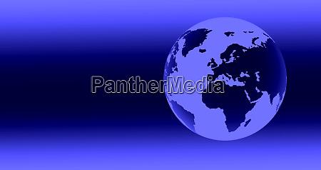 digitally generated blue globe