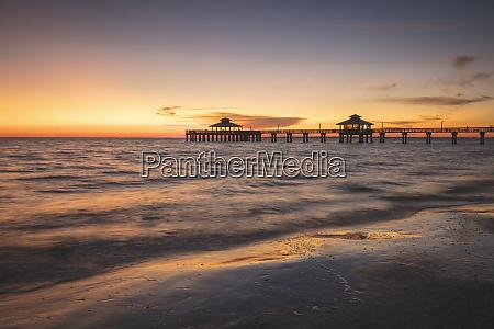usa florida fort myers beach pier
