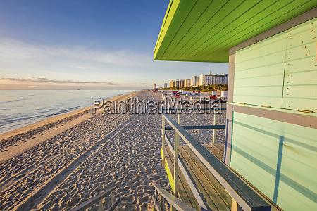 usa florida miami beach lifeguard hut