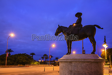 spain andalusia seville equestrian statue of