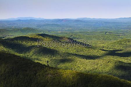 usa virginia blueridge parkway landscape with