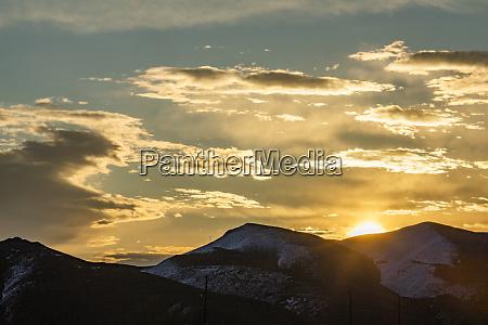 usa idaho sun valley sunset over