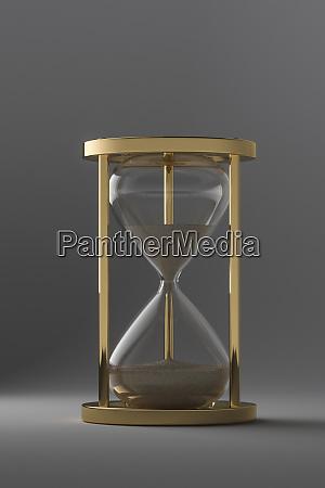 studio shot of hourglass
