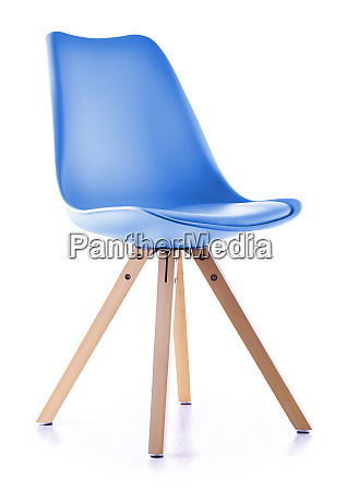 modern popular plastic chair isolated on
