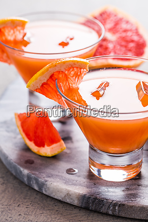 fresh pink grapefruit drink with juice