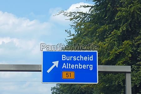 federal motorway exit burscheid