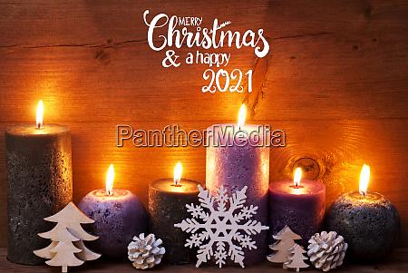 purple candle christmas ornament merry christmas
