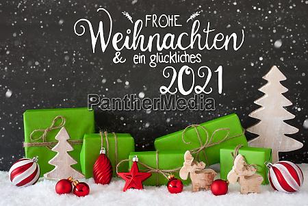 snowflakes tree gift ball glueckliches 2021