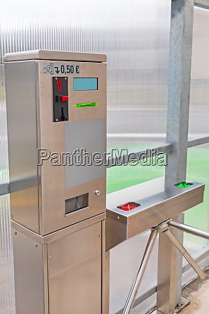 pay machine public toilet