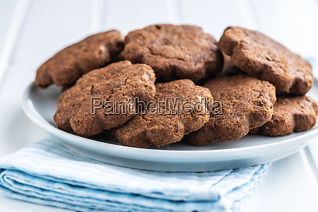 sweet cookies crunchy chocolate biscuits shape