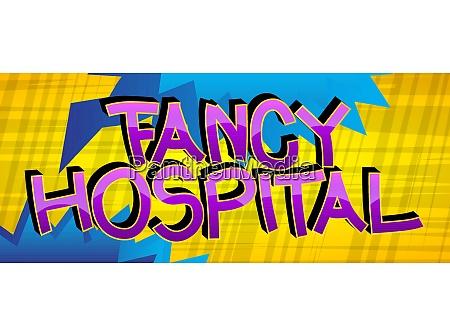 fancy hospital comic book style cartoon