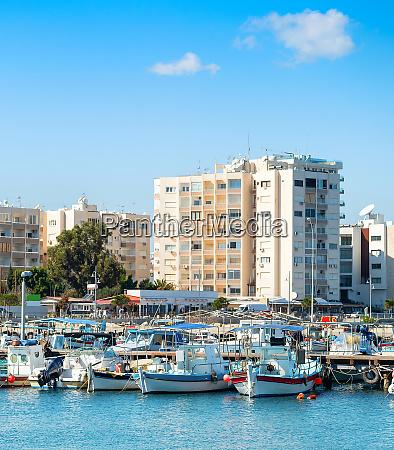 larnaca marina apartments cityscape cyprus