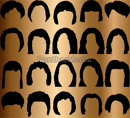 hairstyle silhouettes great set for styling
