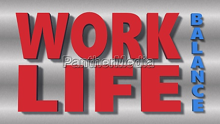 work life balance lettering isolated