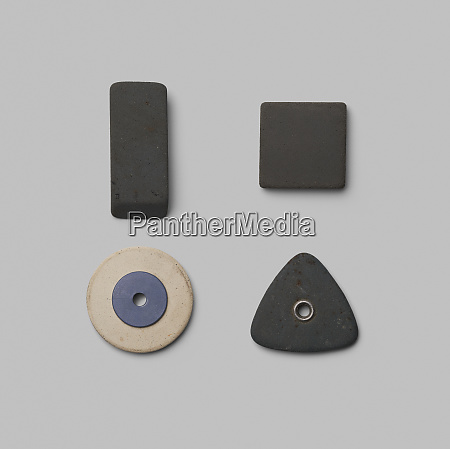 rubber pieces in various shapes on