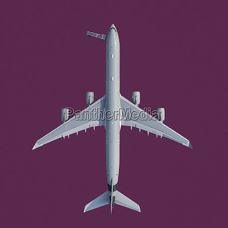 view from above airplane on purple