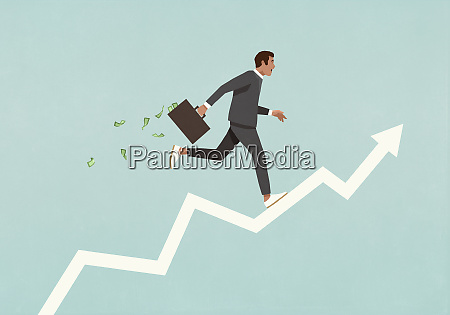 male investor with briefcase full of