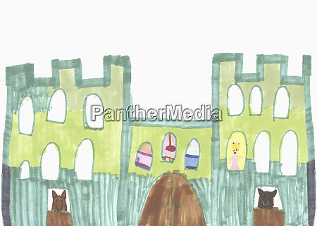 childs drawing of castle