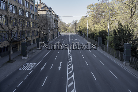 empty city street during covid 19