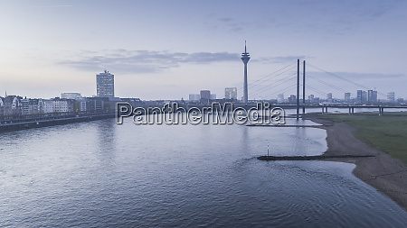rhine river and rhine tower at