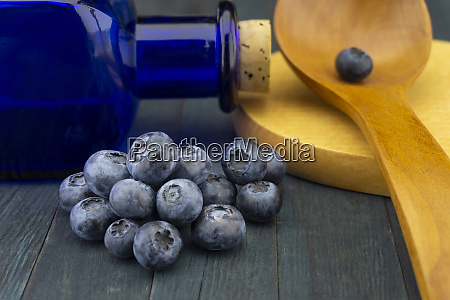 food still life with fresh blueberries