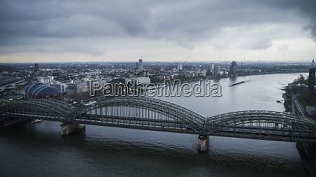 hohenzollern bridge over rhine river cologne