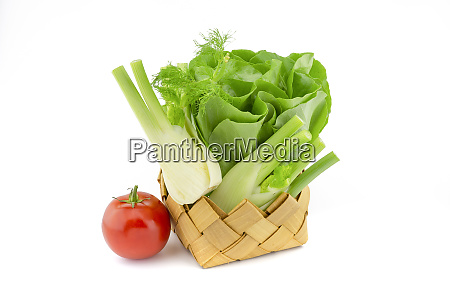 butter lettuce fennel and tomato over