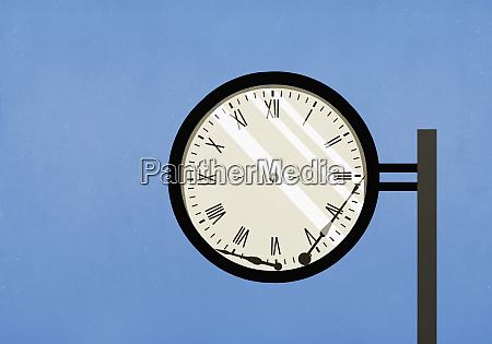 broken hands of clock