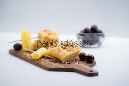 italian focaccia with rosemary olives and