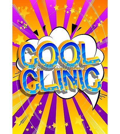 cool clinic comic book style cartoon