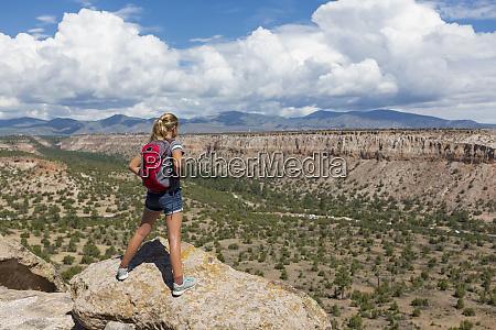 12 year old girl hiking in