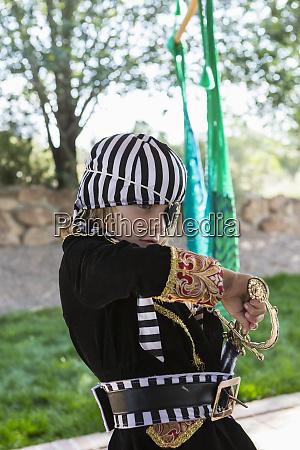5 year old boy wearing pirate