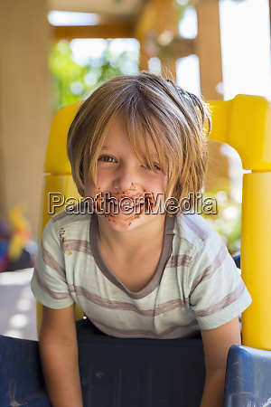 portrait of smiling 4 year old