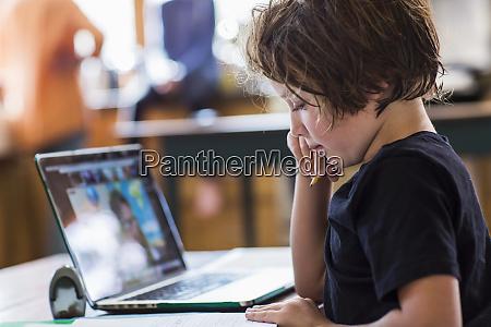 6 year old boy having a