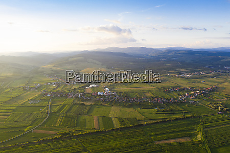 romanian countryside drone view