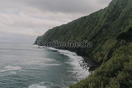 steep coast on sao miguel island