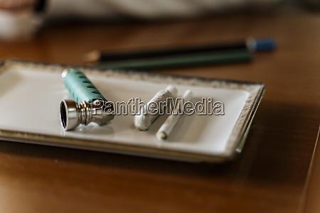 close up of marijuana joints and
