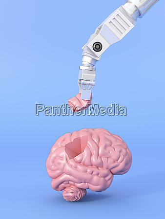 three dimensional render of robotic arm