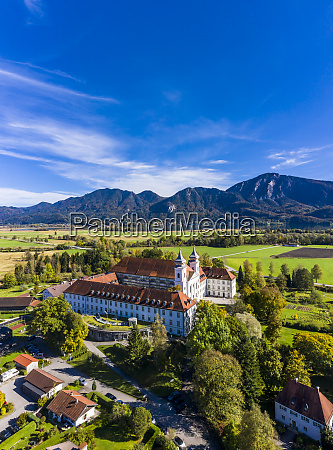 germany, , bavaria, , schlehdorf, , helicopter, view, of schlehdorf - 28740785