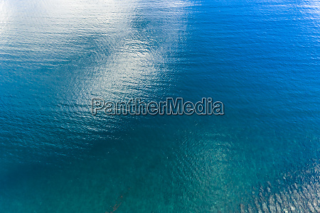 mauritius helicopter view of blue waters