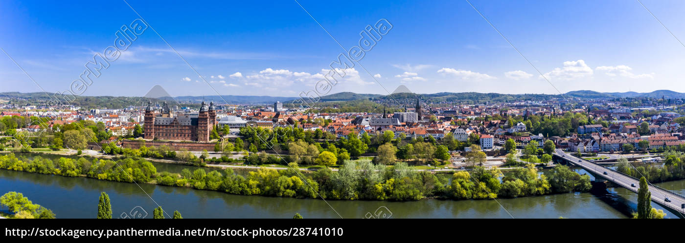 germany, , bavaria, , aschaffenburg, , helicopter, panorama, of - 28741010
