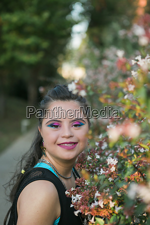 teenager girl with down syndrome wearing