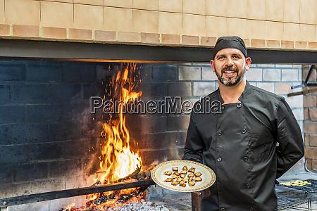 traditional cooking in restaurant ktichen chef