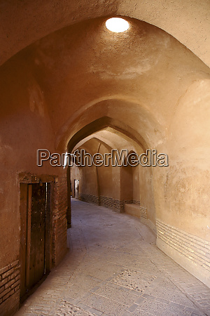 old alley with arched ceiling in