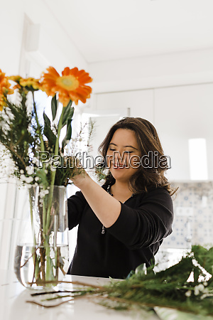 happy young woman with down syndrome