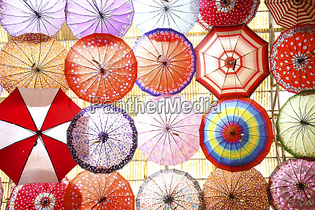iran fars province shiraz colorful umbrellas