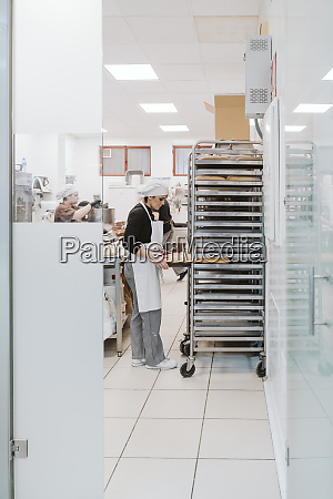 bakers working at bakery