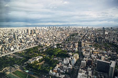 japan osaka prefecture osaka aerial view