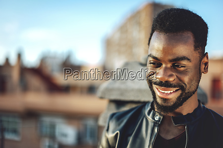 close up of smiling young man