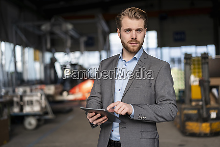 portrait of a young businessman with